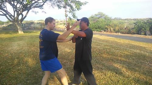 Scott Cannam and Eugene Tagawa Sifu at Pacific Wing Chun