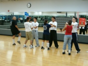OC Wing Chun Association teaching at Balleys, in Orange  County, CA. 2004