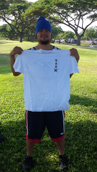 From everyone here at Pacific Wing Chun Congratulations Quinn earning the White Shirt for preforming Siu Nim Tao.