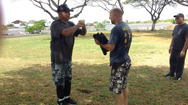 Mike Pollard has been awarded a Black Sash at Pacific Wing Chun Kung Fu Association Kailua Kona, Hawaii.