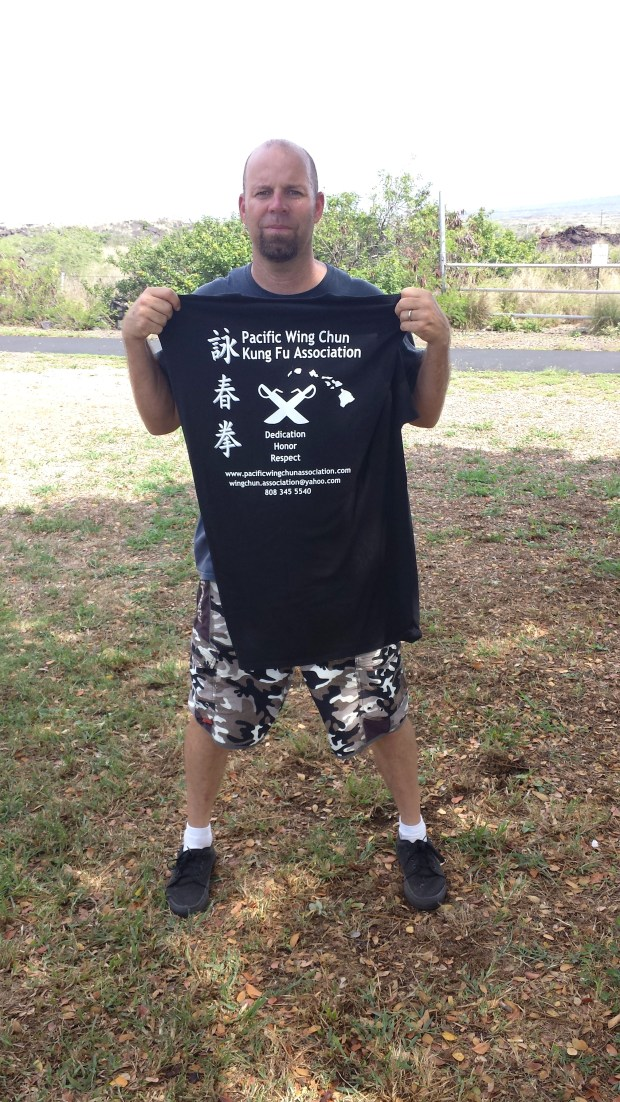 Mike Pollard awarded Black Shirt Instructor Level at Pacific Wing Chun Kung Fu Association, Kailua Kona, Hawaii.